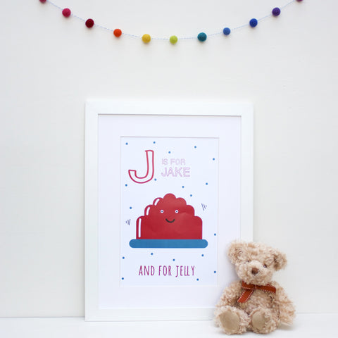 Jelly Personalised Alphabet Name Print