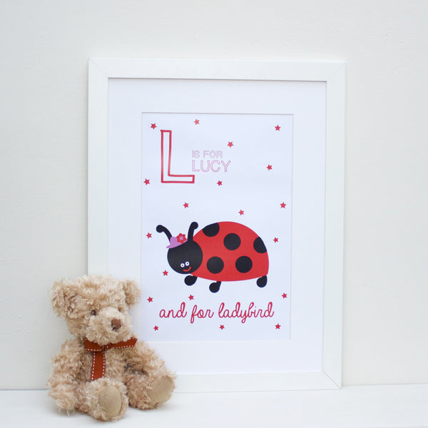 Ladybird Personalised Alphabet Name Print