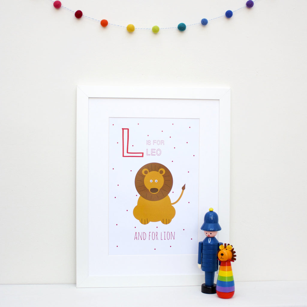 Lion Personalised Alphabet Name Print