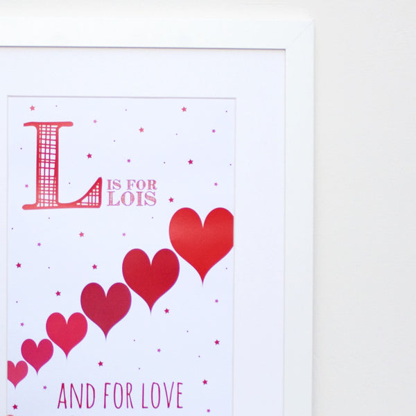 Love Personalised Alphabet Name Print