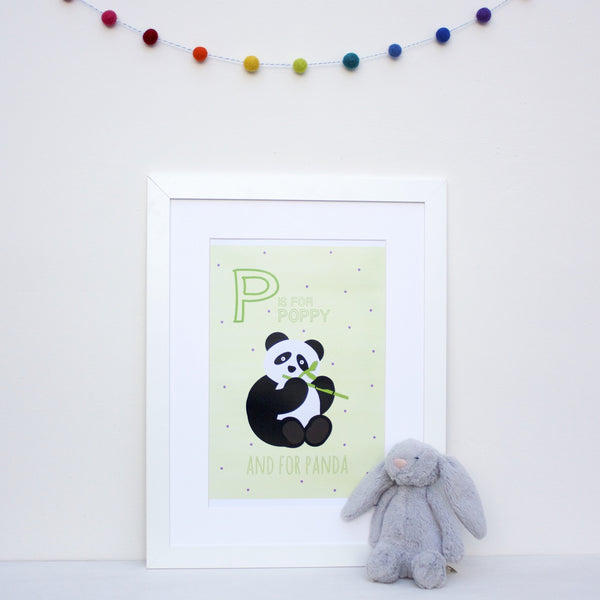 Panda Personalised Alphabet Name Print