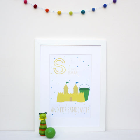 Sandcastle Personalised Alphabet Name Print