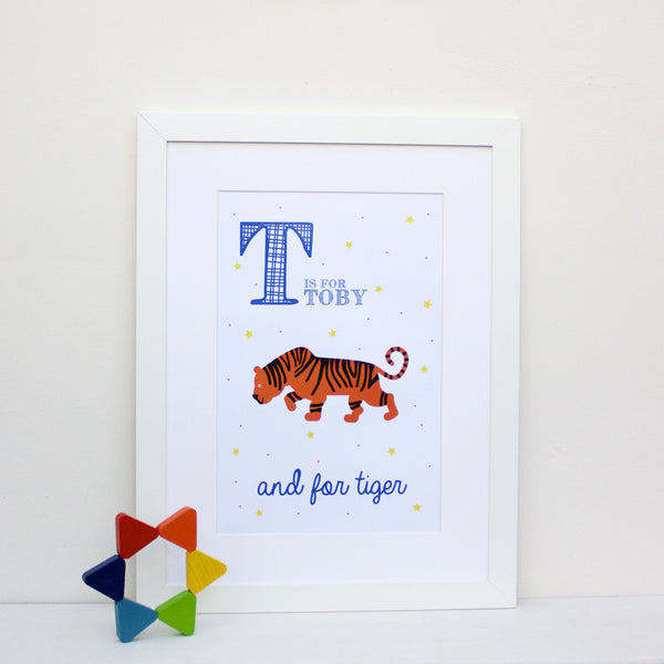 Tiger Personalised Alphabet Name Print