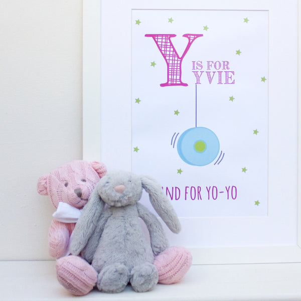 Yo-Yo Personalised Alphabet Name Print