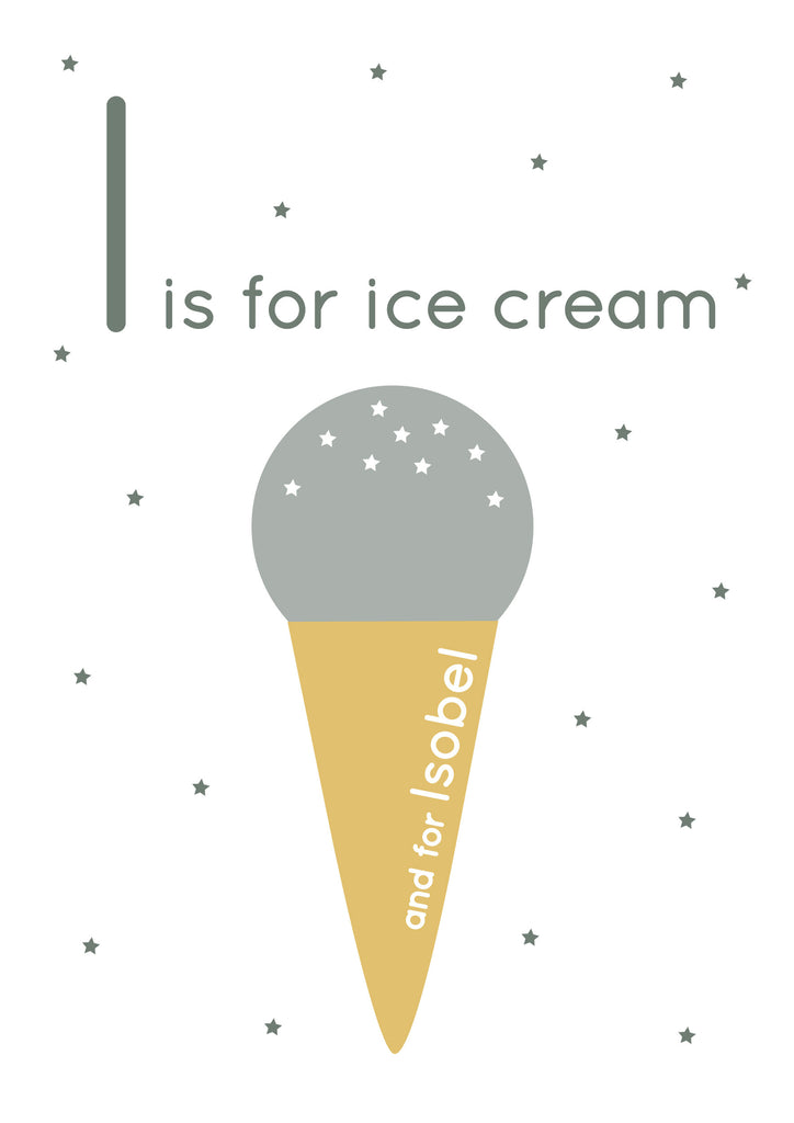 Ice Cream Personalised Print