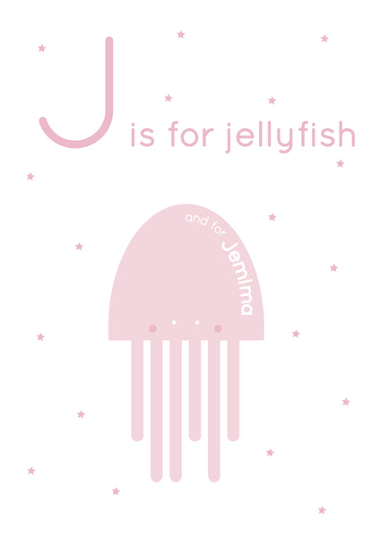 Jellyfish Personalised Print