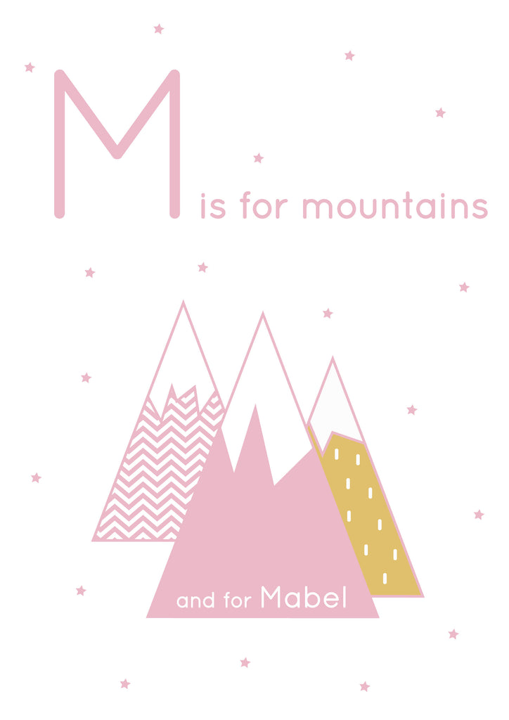 Mountains Personalised Print