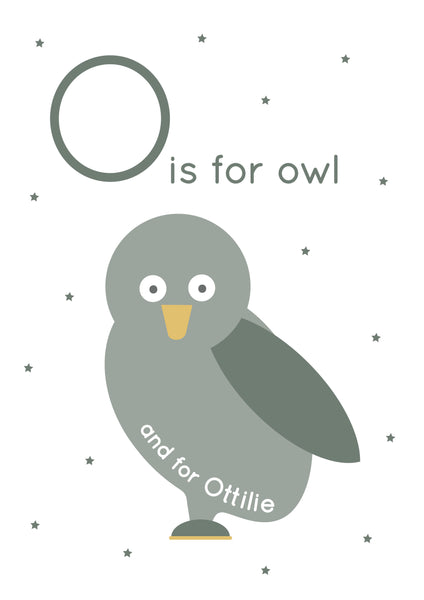 Owl Personalised Print