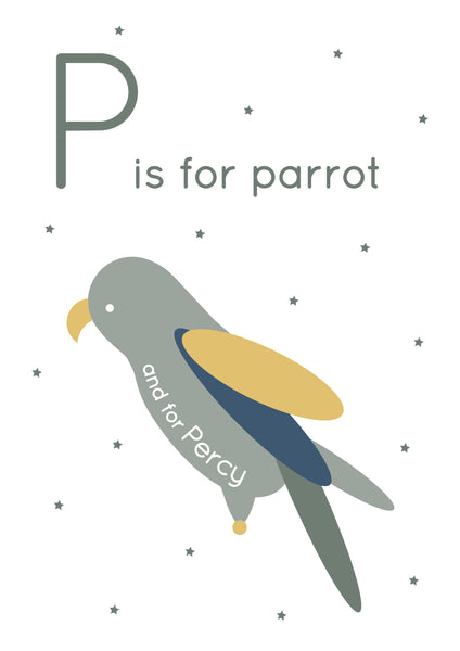 Parrot Personalised Print