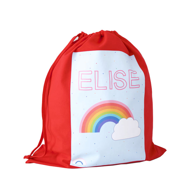 Personalised Drawstring Bag - Red