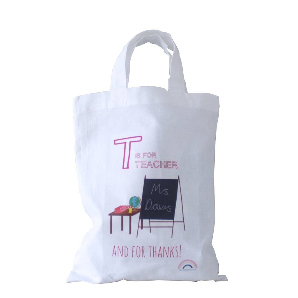 Personalised Mini Tote - Thank You Teacher