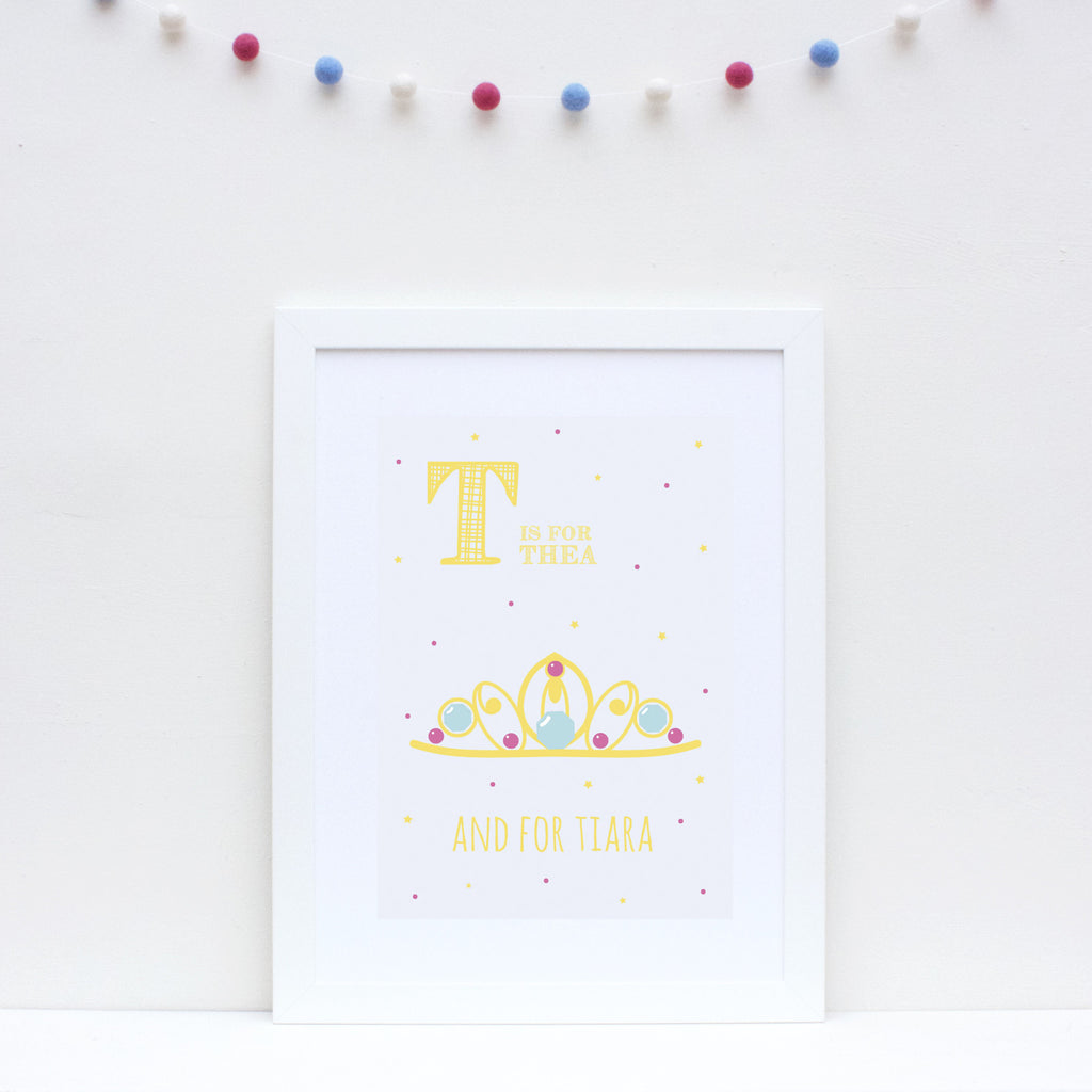Tiara Personalised Alphabet Name Print