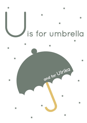 Umbrella Personalised Print