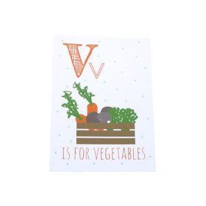 Vegetables Postcard