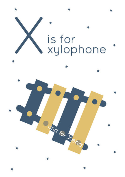 Xylophone Personalised Print