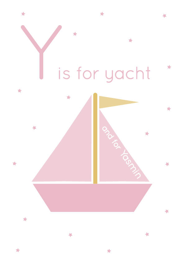 Yacht Personalised Print
