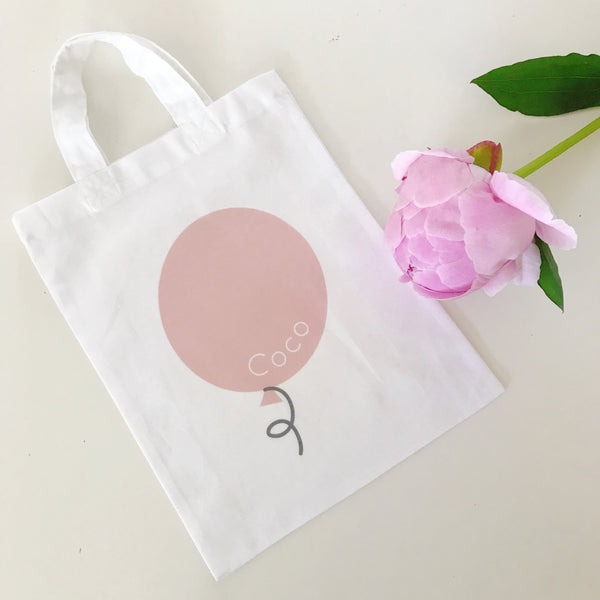 Personalised Balloon Mini Tote Bags