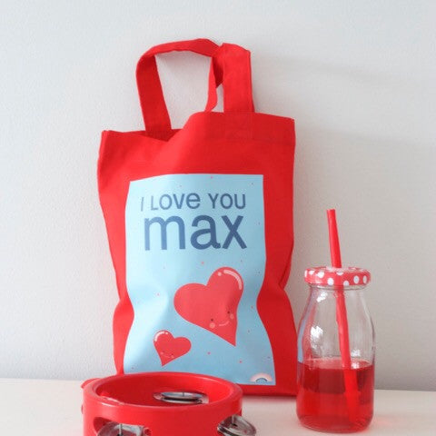 Personalised Mini Tote Bag - Valentine Love