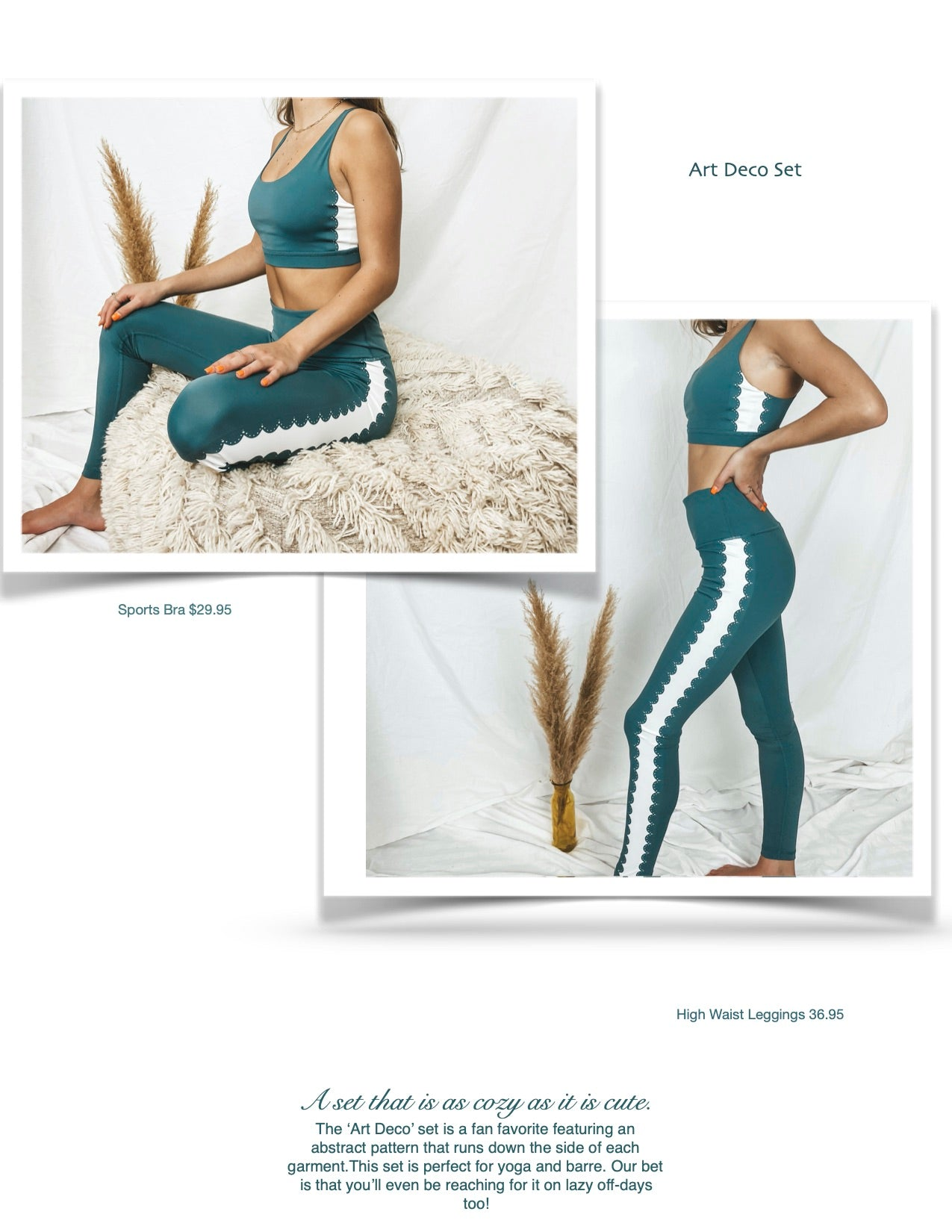 teal active wear women's