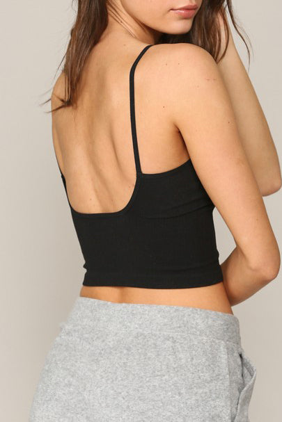 Seamless V-Neck Cami with Low Back