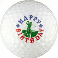 Happy Birthday Golfer Golf Ball