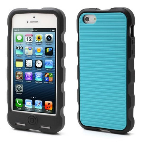 Silicone Double azul Funda iPhone 5/5S/SE