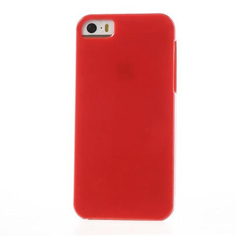 Gel plain rojo Funda iPhone 5/5S/SE