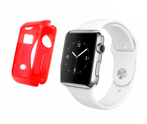 Gel rojo Funda Apple Watch 42