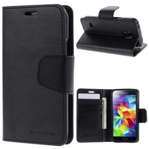 Booky leath negro Funda Galaxy S5 mini