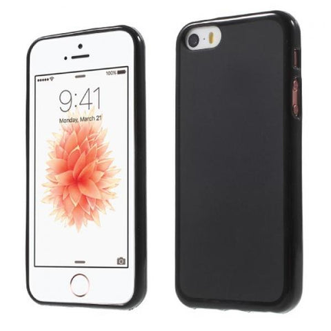 Gel Roundy negro Funda iPhone 5/5S/SE