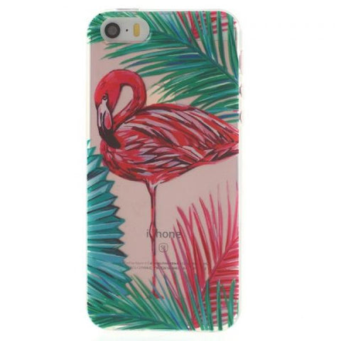 Tropical Palm Flamingo Funda iPhone 5/5S/SE