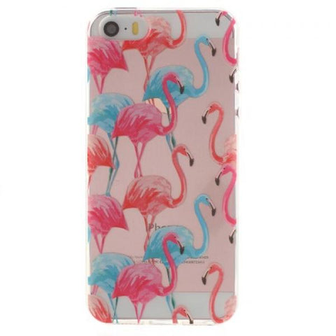 Tropical flamingo Funda iPhone 5/5S/SE