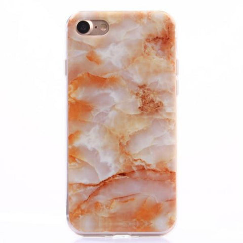 Marble orange Funda iPhone 7