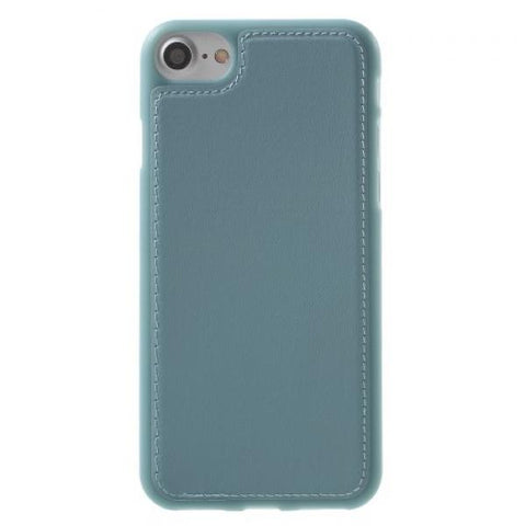 Leath TPU azul Funda iPhone 7