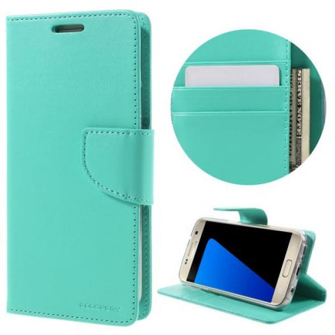 Booky Leath mint Funda Galaxy S7