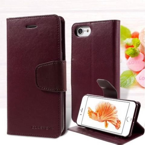 Booky Leath granate Funda iPhone 7