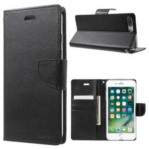 Booky Leath negro Funda iPhone 7 Plus