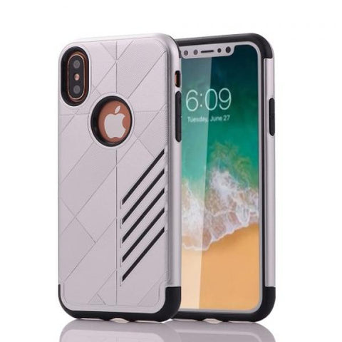 Armor Protect plata Funda iPhone X