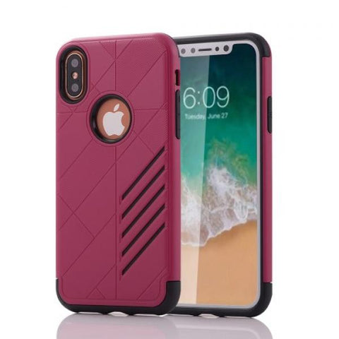 Armor Protect granate Funda iPhone X
