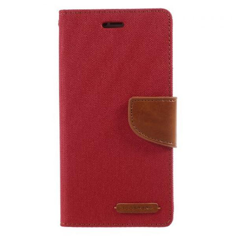 Booky Leath rojo Funda iPhone X / XS
