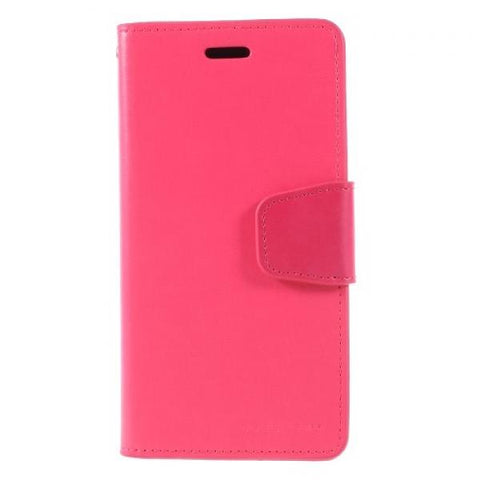 Booky Leath fucsia Funda iPhone X / XS