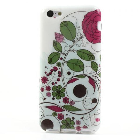 Rounded flower Funda iPhone 5C