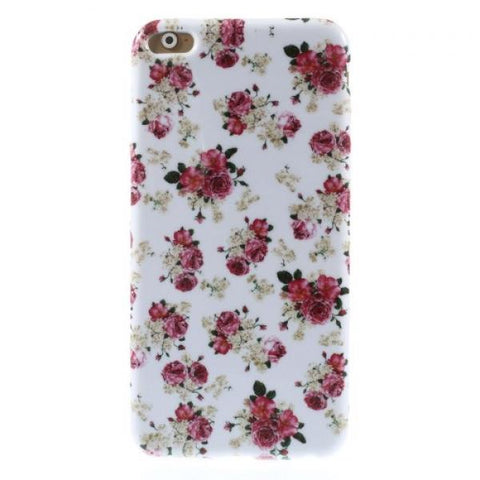 White and rose flower Funda iPhone 6 Plus/6S Plus
