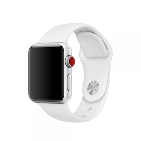 Correa Silicone blanco Correa 42mm / 44mm Apple Watch