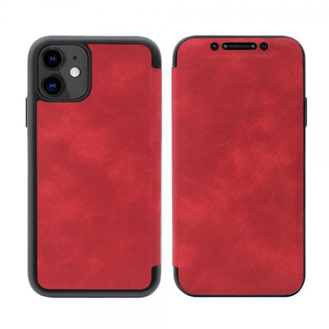 Slim tapa Leather rojo Funda iPhone 11