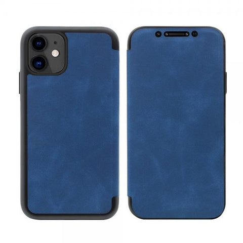 Slim tapa Leather azul Funda iPhone 11
