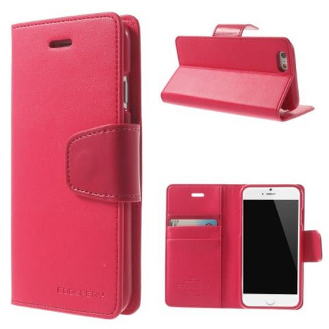 Booky Leath rosa Funda iPhone 6 Plus/6S Plus