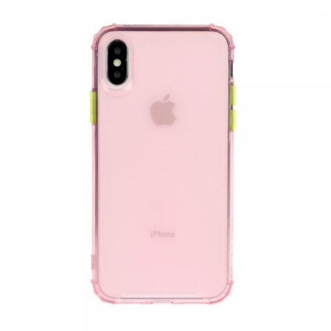 Gel Protect Button rosa Funda iPhone X / XS