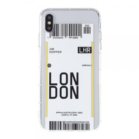 Boarding Pass London Funda iPhone X / XS