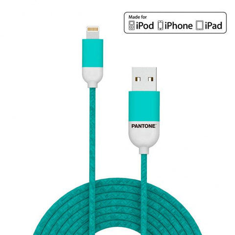 Cable Lightning Pantone Trenza mint 1m